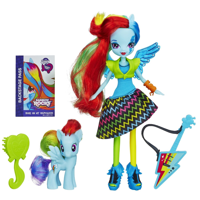 My Little Pony Equestria Girls Rainbow Dash Doll and Rainbow Pony Set