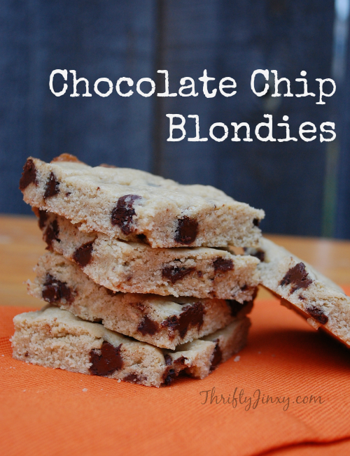 Chocolate Chip Blondies Recipe with Splenda #SweetSwaps