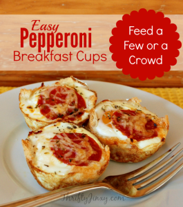 Pepperoni Breakfast Cups Recipe with Hormel Pepperoni