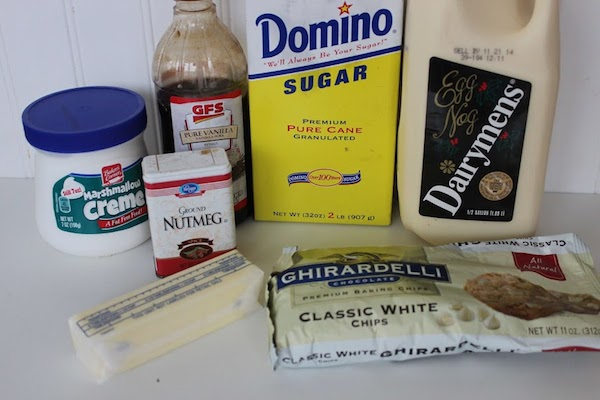 Eggnog Fudge Ingredients