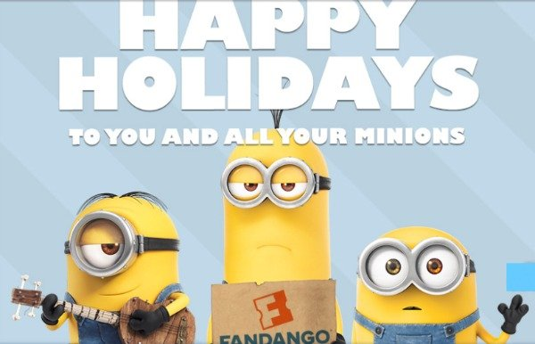 Happy Minion Holidays from #FandangoFamily + a Reader Giveaway