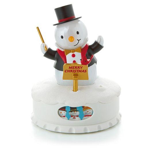 Interactive Musical Christmas Concert Snowmen Conductor