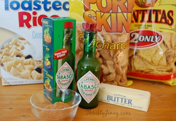 Kicked Up Snack Mix Ingredients