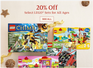 LEGO: 20% Off Select LEGO and DUPLO Sets at BN.com