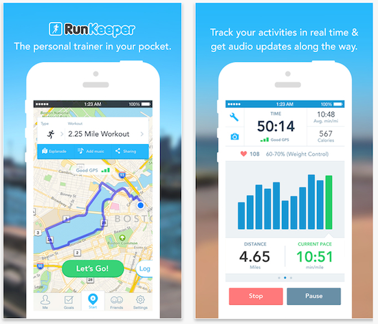 RunKeeper App Screenshots