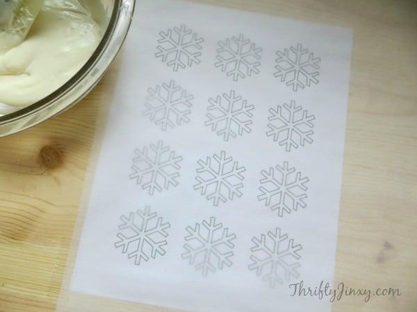 Snowflake Cupcake Topper Template