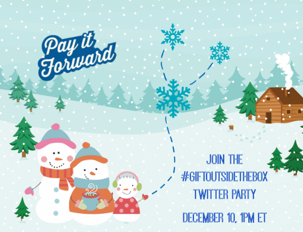 Join the Pay It Forward #GiftOutsidetheBox Twitter Party