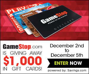 GameStop Savings Week + a Chance to Win a $50 Gift Card