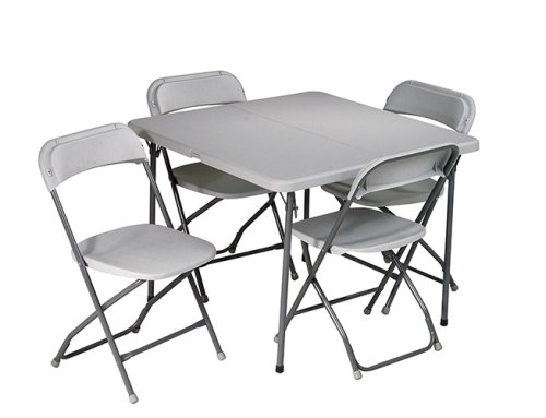 5-Piece Folding Table and Chairs Set only $99! (reg $275)