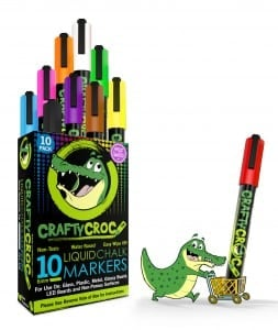 CraftyCroc Liquid Chalk Markers Review and Reader Giveaway