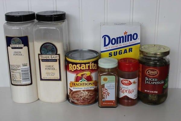 Copycat Fritos Bean Dip Recipe Ingredients