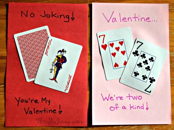 DIY Playing Card Valentines Thrifty Jinxy – Valentine S Cards