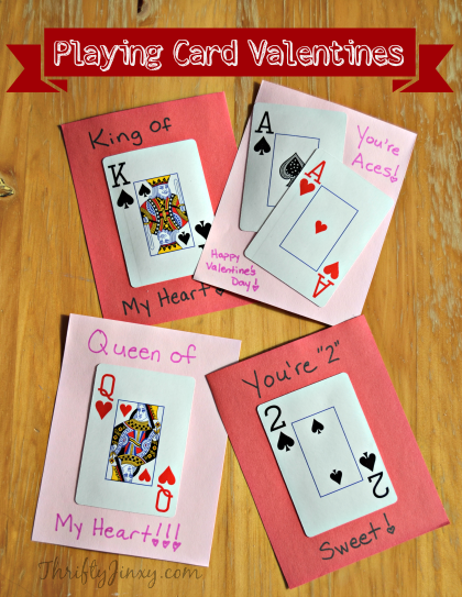 DIY Playing Card Valentines Thrifty Jinxy – Valentine Playing Cards