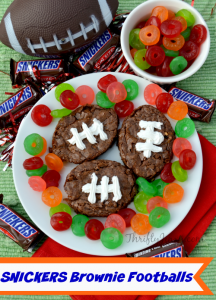 Football SNICKERS Brownies Recipe for the Big Game