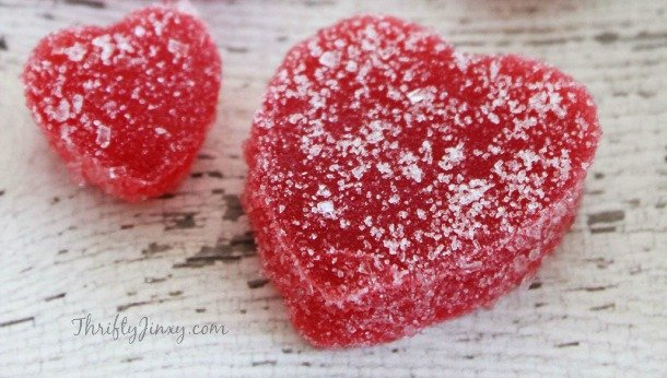 Homemade Valentine Gum Drops Recipe - Red Hearts