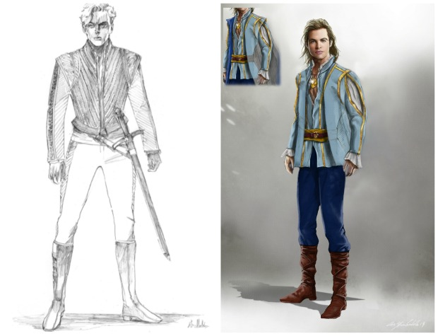 Into the Woods Prince Costumes Sketches