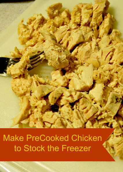 Make Cooked Chicken to Stock the Freezer