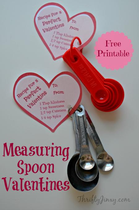 Measuring Spoon Valentine Printable