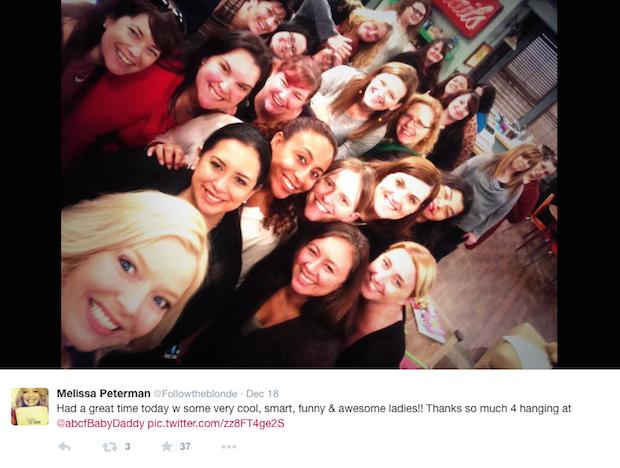 Melissa Peterman Blogger Selfie Tweet