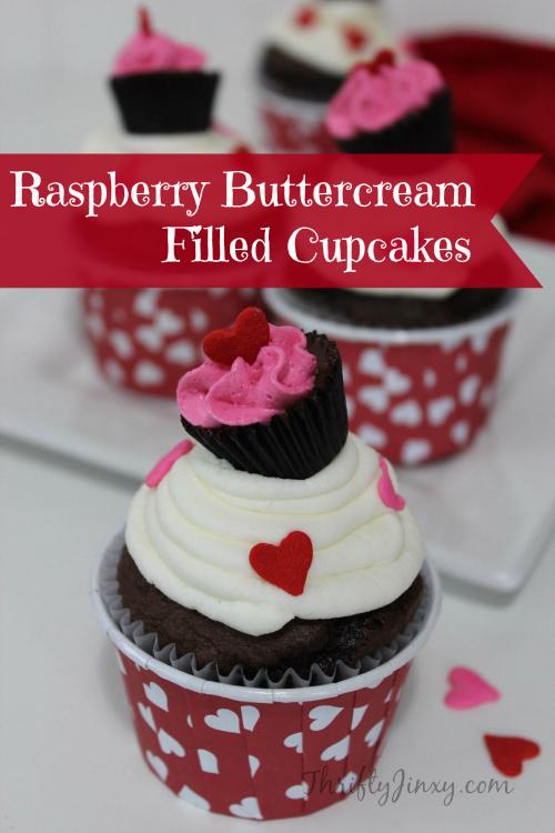 Raspberry Buttercream Filled Cupcakes Recipe