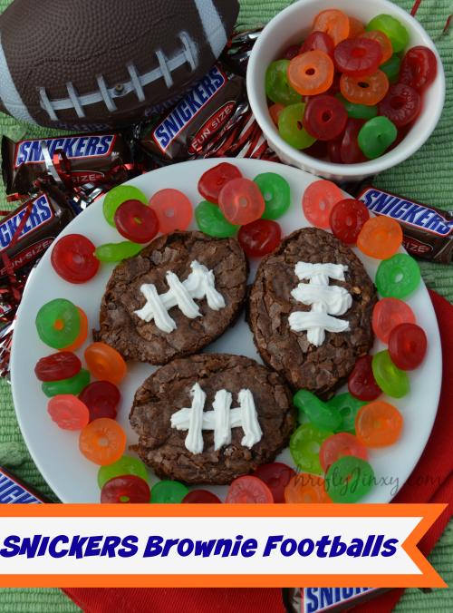 SNICKERS Brownie Footballs Recipe #BigGameTreats