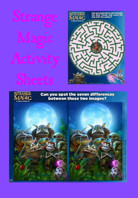Strange Magic Printable Activity Sheets – A Fun Freebie!