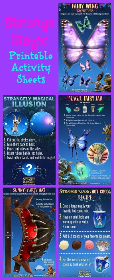 Strange Magic Printable Activty Sheets