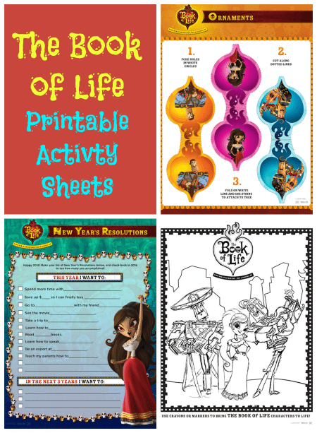 The Book Of Life Activity Sheets