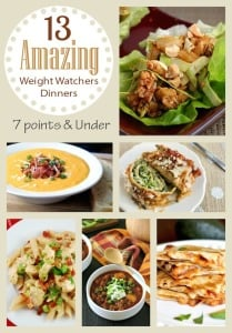 Weight Watchers Dinner Recipes Roundup – All Under 7 Points!