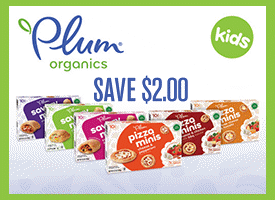 Plum Organics Pizza Minis Only $.33 at Target with $2 Printable Coupon + Ibotta