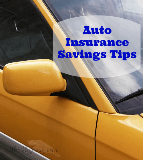 Auto Insurance Savings Tips