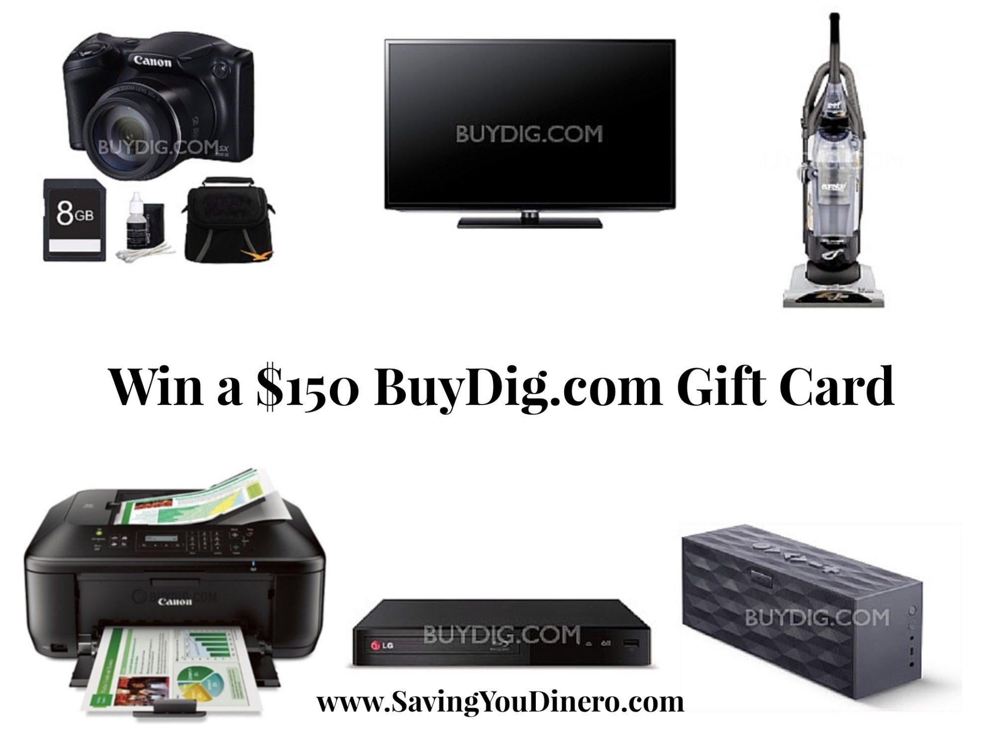 $150 BuyDig.com Gift Card Giveaway