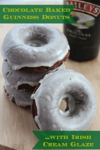 Chocolate Baked Guinness Donuts Recipe with Irish Cream Glaze