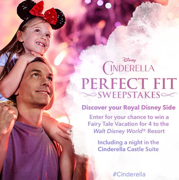 Enter the Disney Cinderella Perfect Fit Sweepstakes