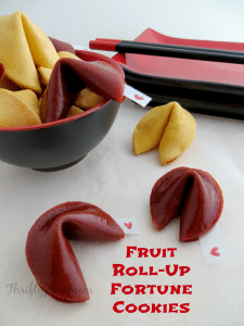 Fruit Roll-Up Fortune Cookies Recipe – Think Valentine's Day!