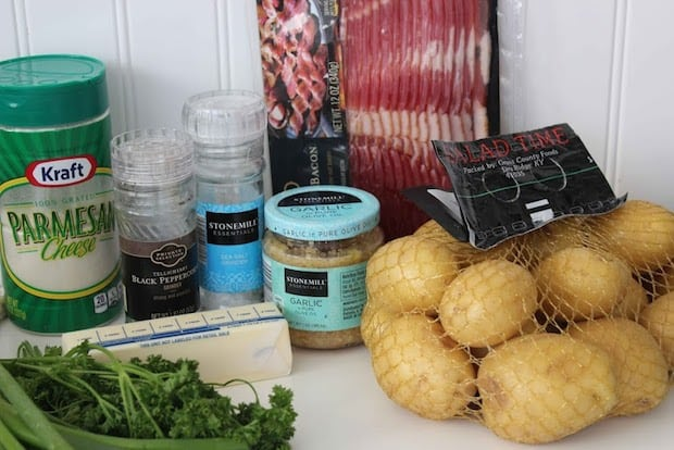 Garlic Bacon Parmesan Potatoes Recipe Ingredients