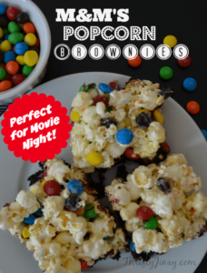M&M'S Popcorn Brownies Recipe for Movie Night