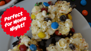 M&M's Popcorn Brownies