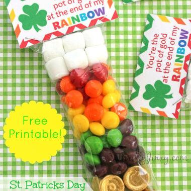 DIY St Patricks Day Rainbow Treat Bag
