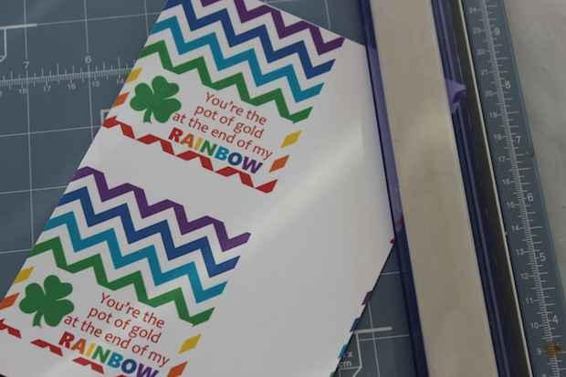 St. Patrick's Day Rainbow Treat Bag Process
