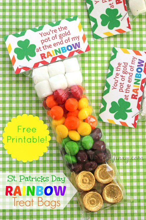 DIY St Patricks Day Rainbow Treat Bag