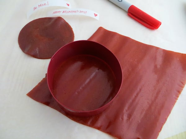 Valentine Fruit Roll-Up Fortune Cookies Recipe Process 2