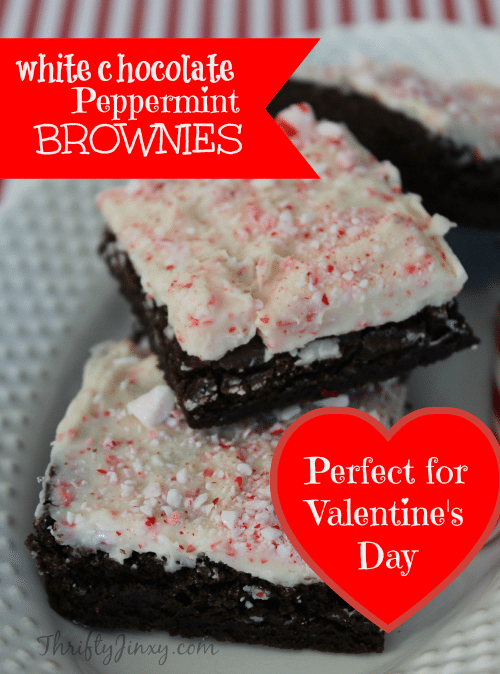 White Chocolate Peppermint Brownies Recipe