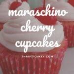 maraschino cherry cupcakes