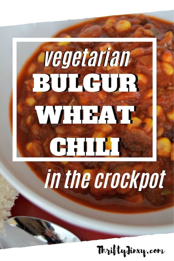 vegetarian crockpot chili