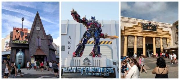 3D Rides Universal Studios Orlando