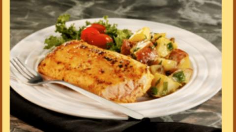 Applewood Smoked Salmon and Warm Potato-Apple Salad with Ale Dressing Recipe