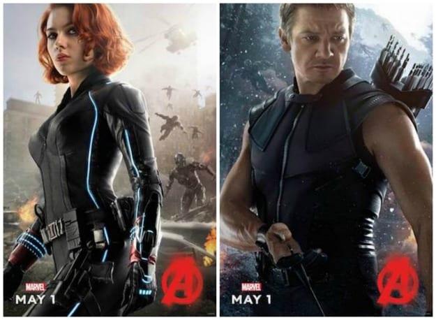 Black Widow Hawkeye Ultron Poster