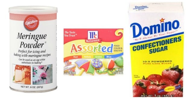 DIY Candy Buttons Ingredients