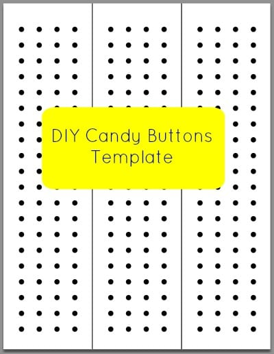 DIY Candy Buttons Template